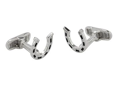 Sterling-Silver-Cuff-Link-Horseshoe