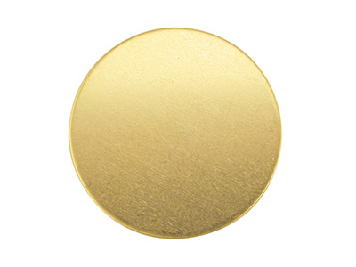 9ct Yellow Gold Blank Fb57 1.00mm X 15mm Fully Annealed Round 15mm,     100 Recycled Gold