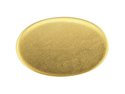18ct Yellow HB Blank Kc8208 1.50mm  Fully Annealed, Oval 19mm X 12.5mm, 100 Recylcled Gold