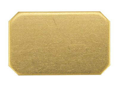 18ct Yellow Gold Blank Kc8233      1.50mm Fully Annealed, Rectangle   17mm X 11mm Cut Corners 100       Recycled Gold