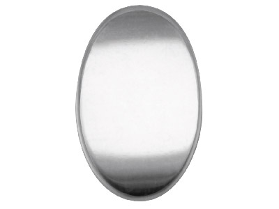 Sterling Silver Blank Kc8208 1.00mm Fully Annealed Oval 19mm X 12.5mm