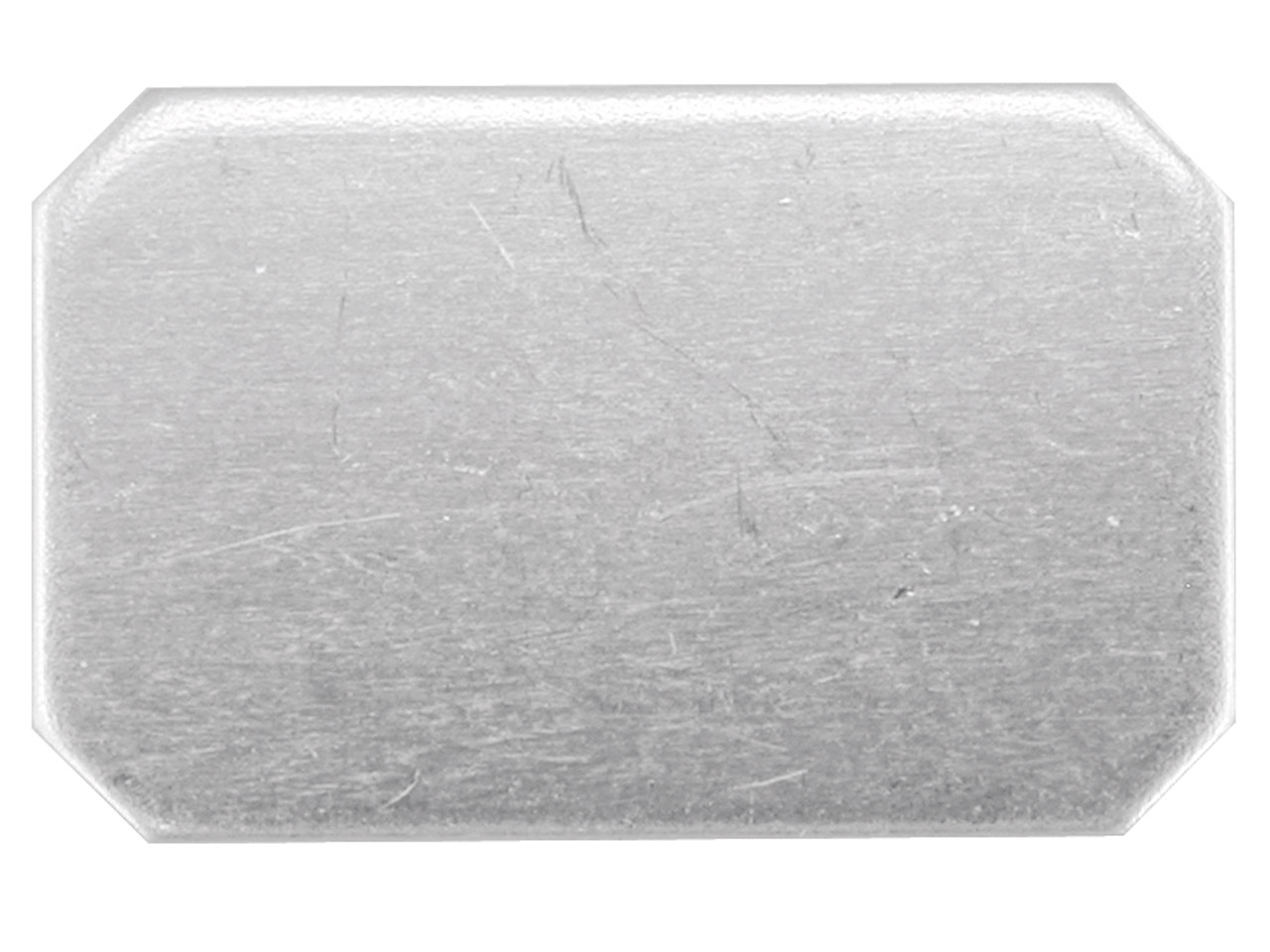 Sterling Silver Blank Kc8233 1.00mm Fully Annealed 17mm X 11mm          Rectangle, Cut Corners