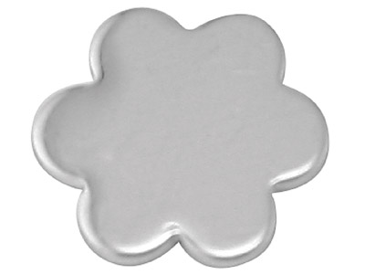Sterling Silver Blank A45 0.80mm   Pack of 20 Fully Annealed 6 Petal Flower Blank 9.3mm