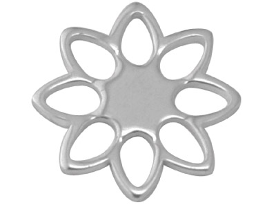 Sterling Silver Blank A84 0.70mm   Pack of 20 Fully Annealed Pierced Open Flower 10.6mm