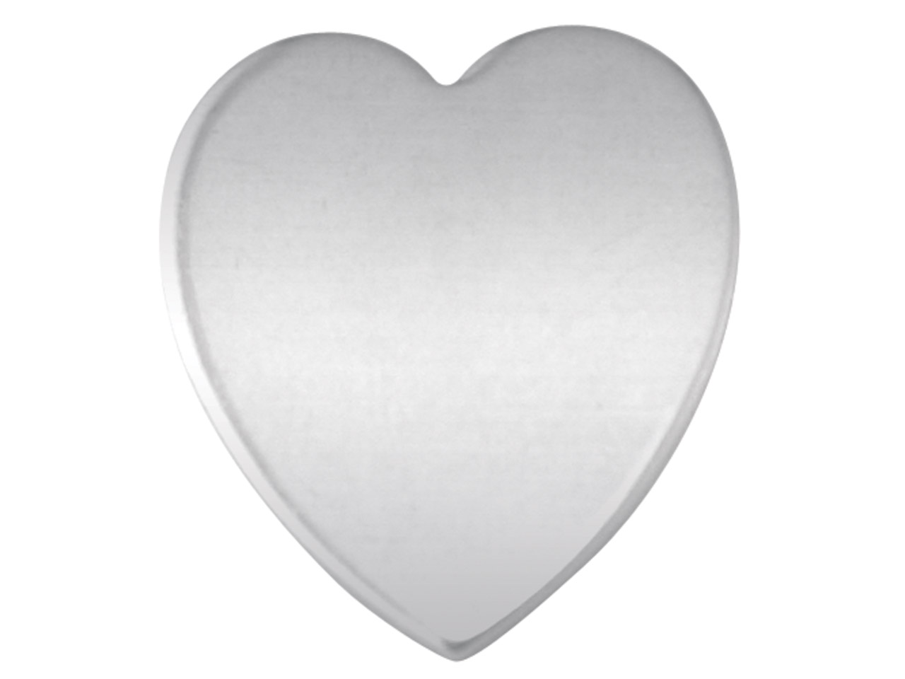 Sterling Silver Blank F12 0.80mm   Pack of 20 Fully Annealed Solid    Heart Shape 14.6mm X 12.8mm