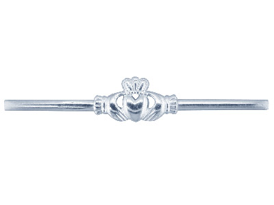 Sterling Silver Flat Ring Df8381   1.85mm Hallmarked Pierced Maids    Claddagh Extra Heavy