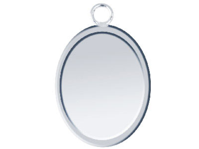 Fine Silver Pendant Cpm78 1.50mm   Fully Annealed Blank Oval 12mm X   15mm