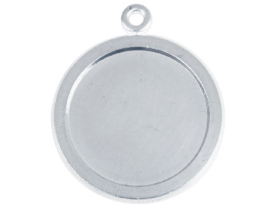 Fine Silver Pendant Cpm80 1.50mm   Fully Annealed Framed Round Blank  17.5mm