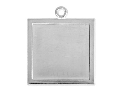 Fine Silver Pendant Cpm82 1.50mm   Fully Annealed Blank Square 14.5mm
