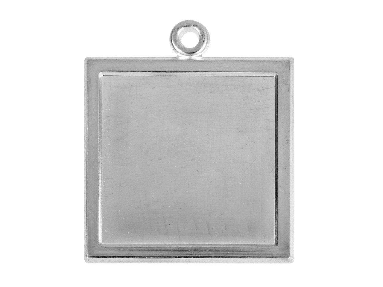 Fine Silver Pendant Cpm83 1.50mm   Fully Annealed Framed Square Blank 19mm