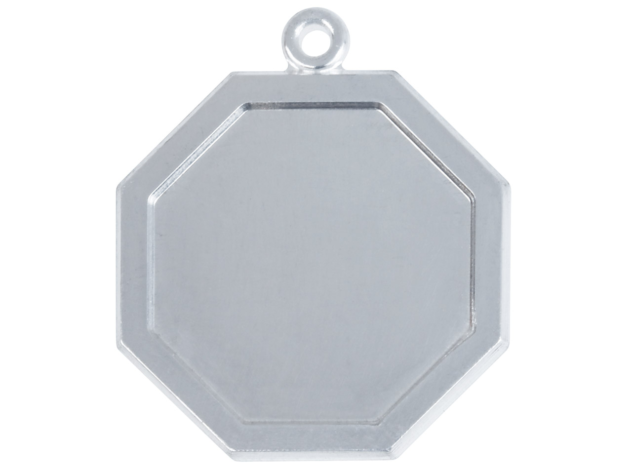 Fine Silver Pendant Cpm85 1.50mm    Fully Annealed Framed Octagon Blank 18.5mm