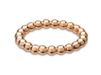 Rose Gold Filled Beaded Ring 3mm Size S