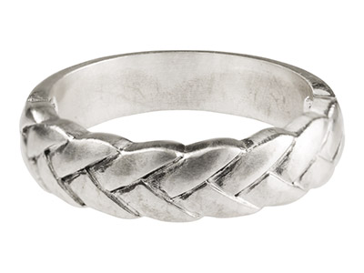 Sterling Silver Cast Plait Ring (available in gold