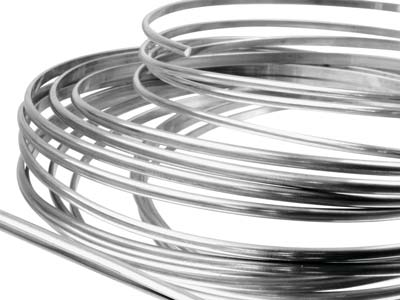 Argentium Silver D Shaped Wire