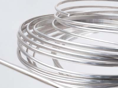 3.0 x 2.0mm Ecosilver D Shape Wire