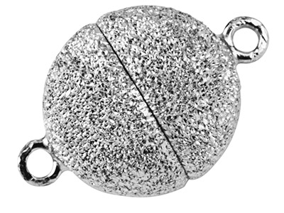 Sterling Silver Magnetic Lasered Ball Clasp