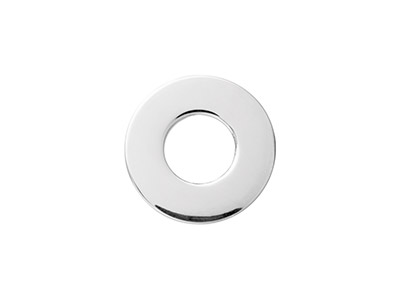 Sterling Silver Flat Washer 15mm Pack of 3