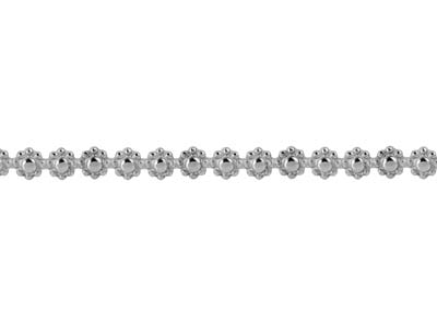 Sterling Silver Daisy Chain Berry Gallery Strip