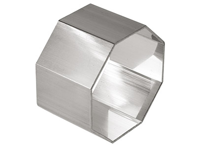 Sterling Silver Napkin Ring Octagonal 43mm