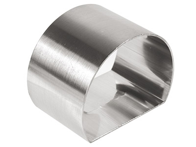 Sterling Silver Napkin Ring D Shape 50mm