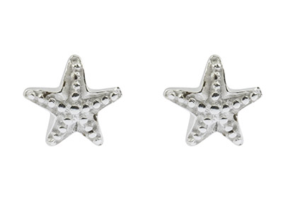 20% OFF Sterling Silver Starfish Stud Earrings