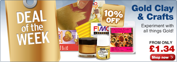 Deal of the Week -10% OFF Gold Clay and Crafts!