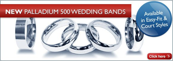 New Palladium 500 Wedding Rings