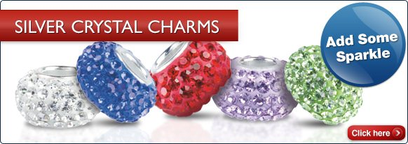 Silver Crystal Charms