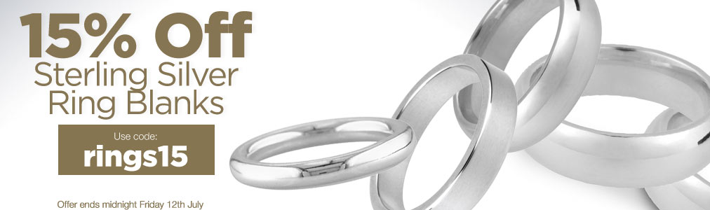 15% OFF Sterling Silver Rings