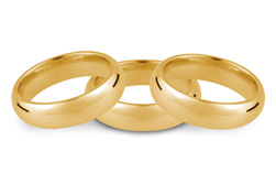 18ct Yellow Wedding Rings