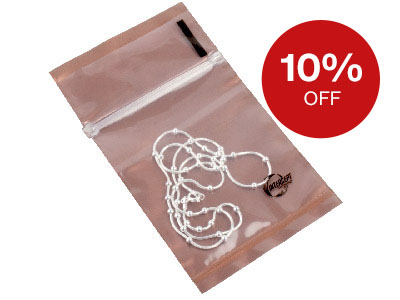 "Anti Tarnish 2.5"" X 3"" Clear Poly Zip-lock Bags"