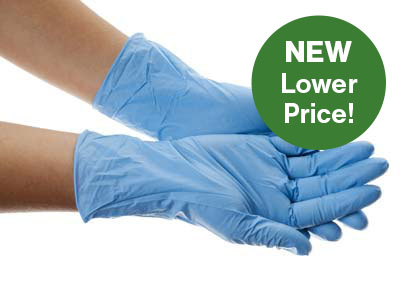 100 Disposable Latex Free Gloves, Large