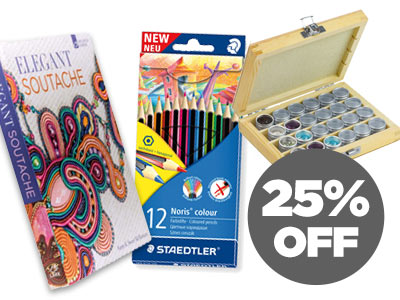 25% OFF Selected Books, Stationery and Storage