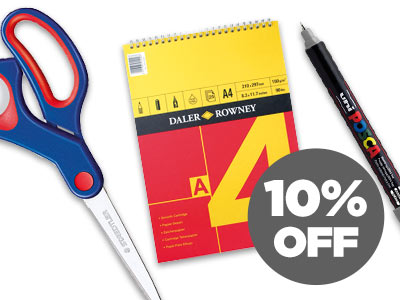 10% OFF Stationery