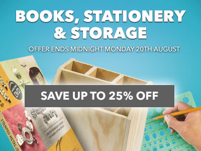 Up to 25% OFF Books, Stationery and Storage