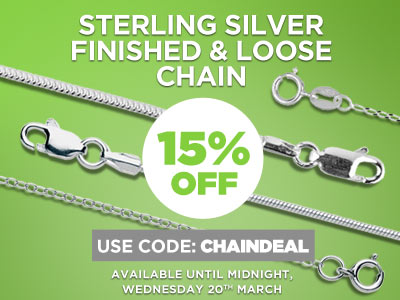 Use code CHAINDEAL for 15% OFF