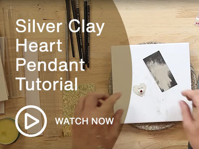 Silver Clay Heart Pendant Tutorial for Beginners