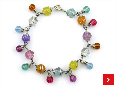 Colourful Wire wrapped Bracelet, by Katie Hacker