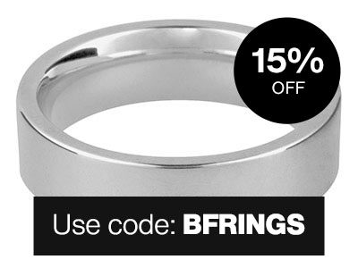 Silver Easy Fit Wedding Rings