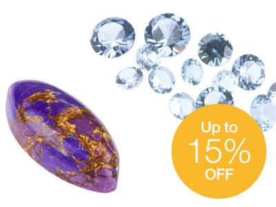 Up to  15% OFF Selected Gemstones