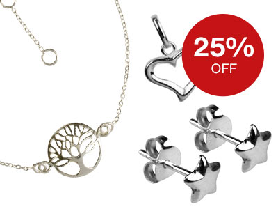 25% OFF Silver Finished Jewellery