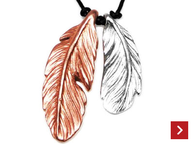Fluttery Feather Pendants