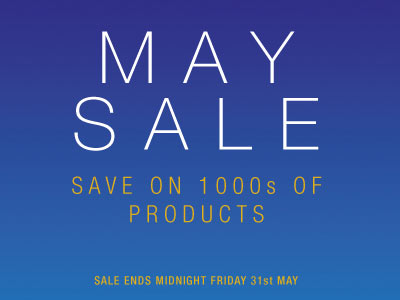 Save on 1000s of Products in the May Sale