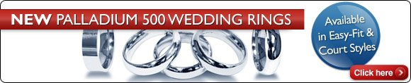 New Palladium 500 Wedding Bands
