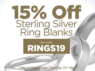 15% OFF Silver Wedding Rings, Use code RINGS19