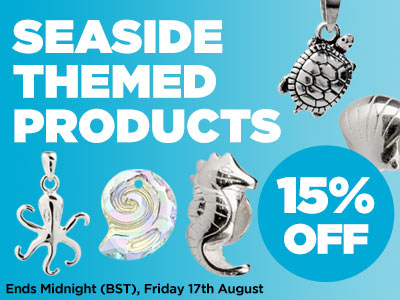 15% OFF Seaside Inspired Beads and Jewellery