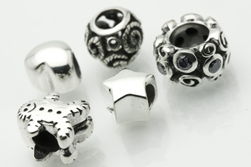 Silver Charm Beads