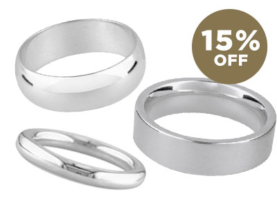 15% OFF Sterling Silver Ring Blanks