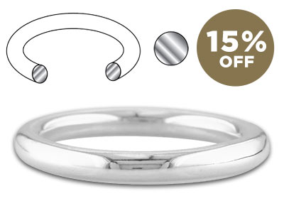 15% OFF Halo: Round Profile Rings