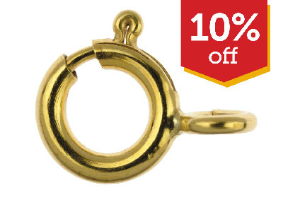 10% OFF Gold Filled Bolt Rings
